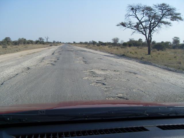 Road from Nata to Kasane, Botswana