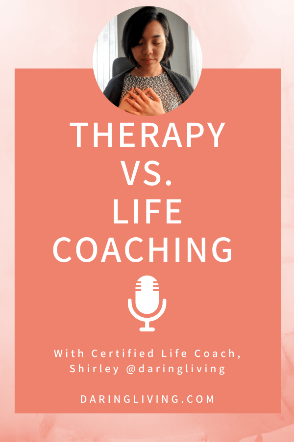 I explain the main differences between therapy counseling and life coaching. #lifecoaching #daringliving #podcast #therapy #counseling #mentalhealth #lifecoach #shir