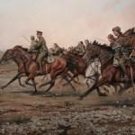 La carga heroica del Laureado Regimiento de Alcántara nº 14 en las orillas del río Igán