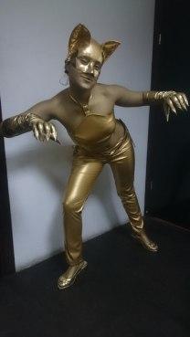 Живая статуя Женщина кошка