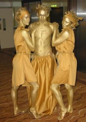 """Живые статуи - """"Трио"""""""