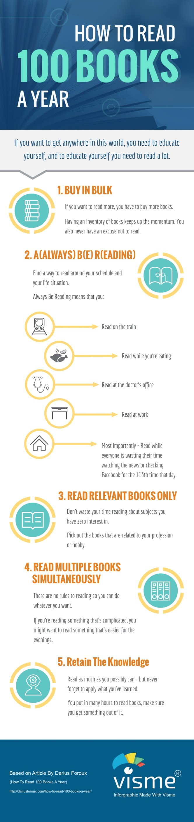 How To Read 100 Books A Year by Darius Foroux
