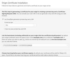 Origin Certificate create