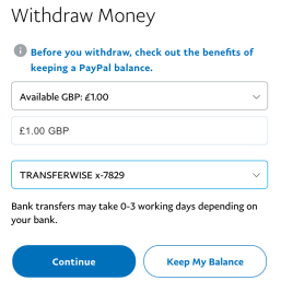 Wypłata z PayPal na TransferWise