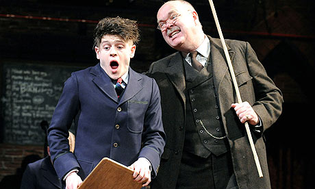 Iwan Rheon and Richard Cordery in Spring Awakening at the Lyric Hammersmith in London. Photograph: Tristram Kenton