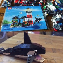 LEGO whale - part of the lighthouse set