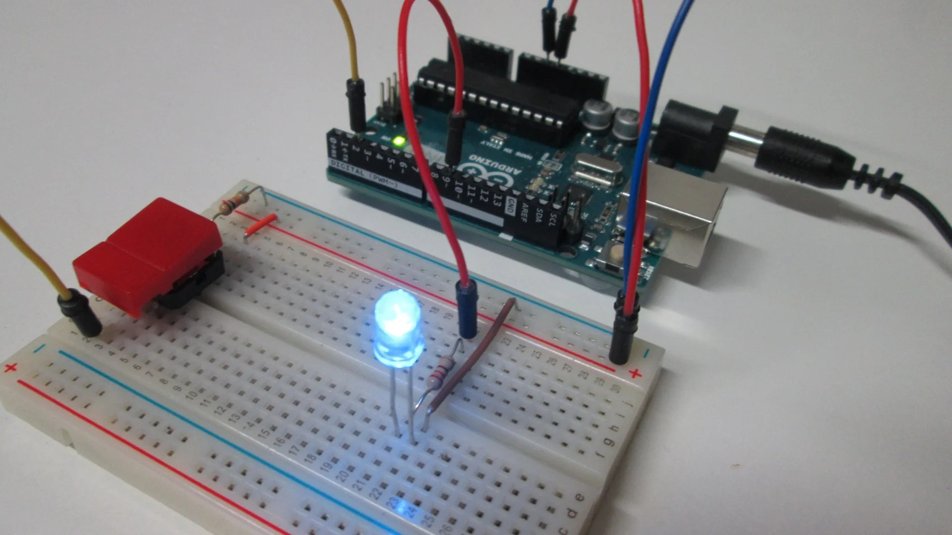 Pushbutton And Fading LED