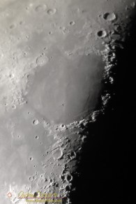 "iPhone 5S photo of the Moon through a NexStar 11"", afocal method with a 35mm eyepiece"