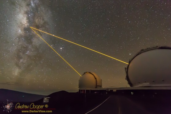 Dual Lasers on the Galactic Center