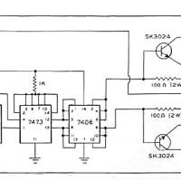 An typical telescope drive corrector schematic from the 1980's