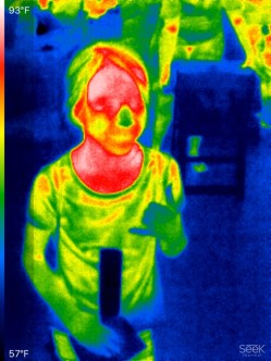 Thermal image of a young guest at AstroDay
