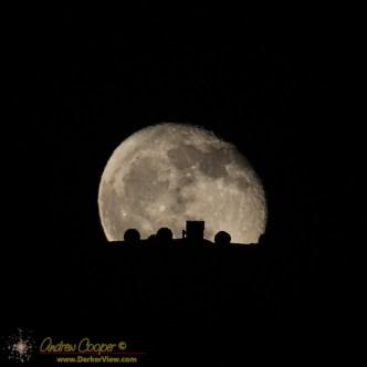 Mauna Kea Telescope Moonrise