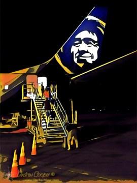 Boarding Alaska flight 850 in Kona
