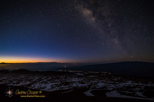 Milky Way over Mauna Loa