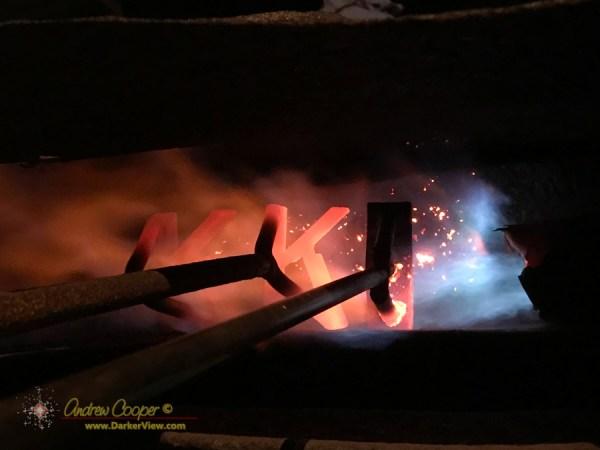 Branding irons heating at Kahua Ranch