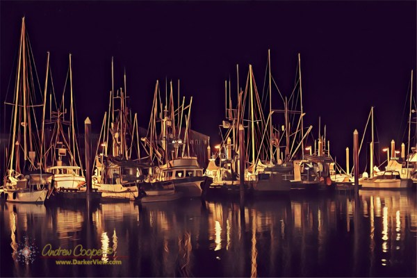 Petersburg Harbor at Night