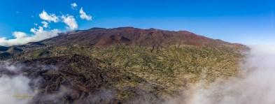 Looking up at Mauna Kea from below Hale Pohaku,