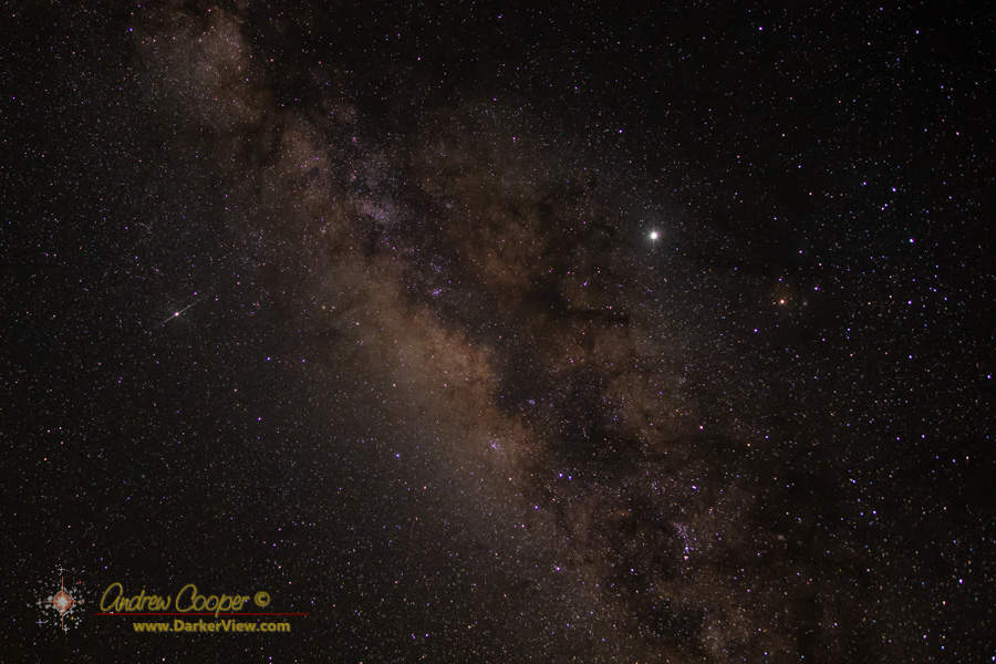 "A 30"" tracked shot of the central Milky Way"