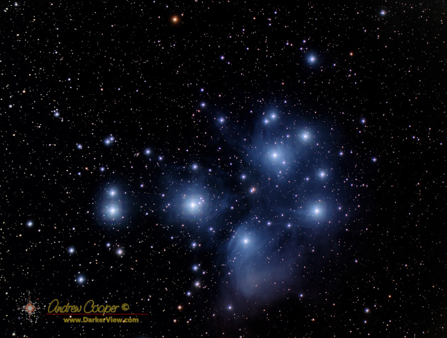 The Pleiades, color image through LRGB filters