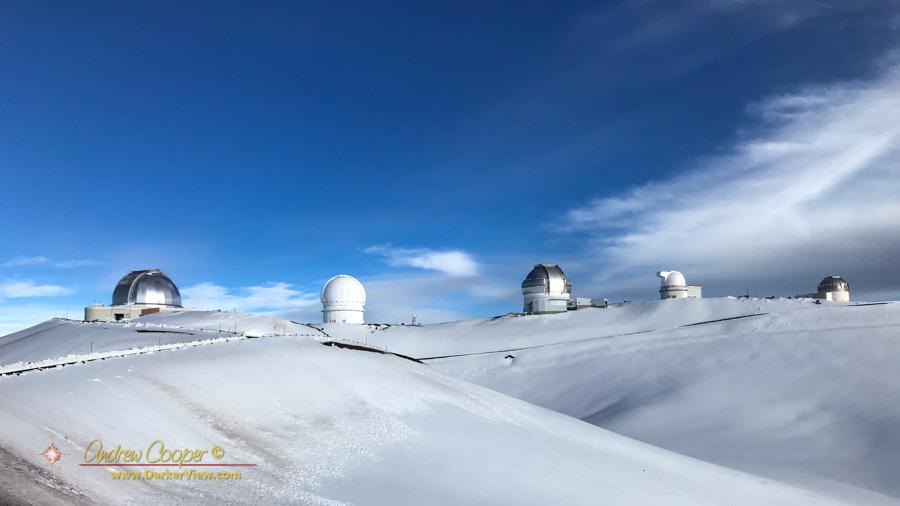 Fresh Snow on the Summit of Mauna Kea