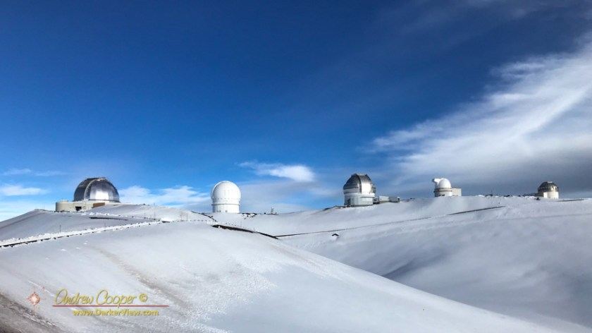 Fresh Snow on the Summit of Mauna Kea
