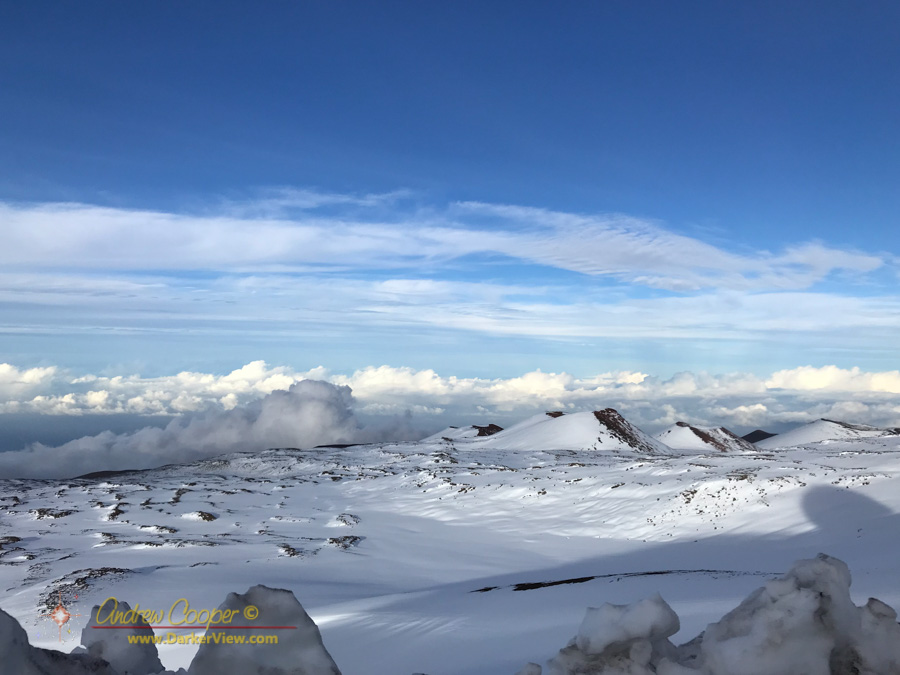 Looking down to the northeastern flank of Mauna Kea with Puʻumāhoe