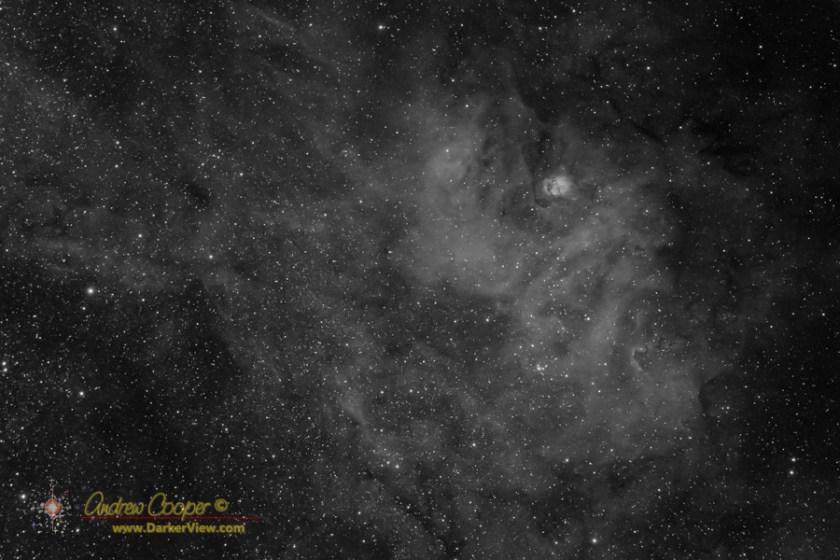 The nebula complex Sharpless 2-54 in Serpens in Hydrogen Alpha