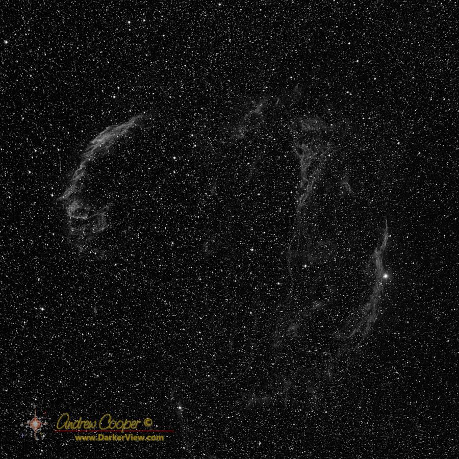 The Veil Nebula in hydrogen alpha