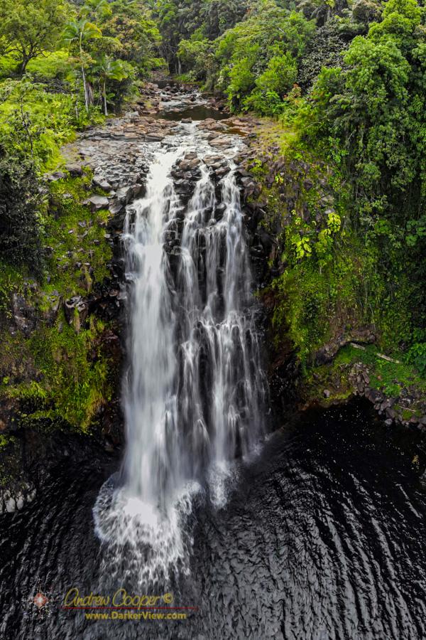 A waterfalls on Kawainui Stream near Onomea