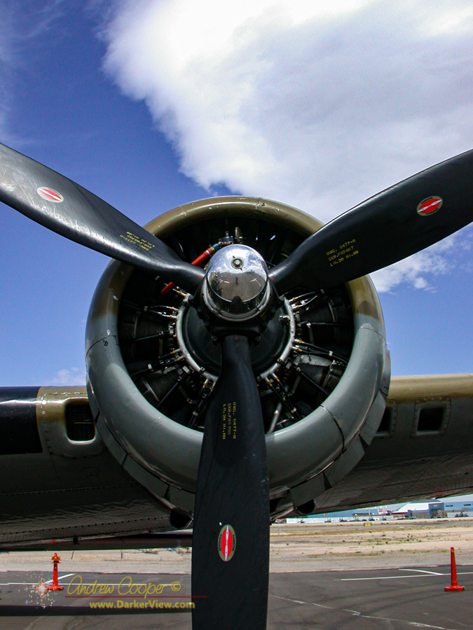 #2 engine of B-17 Nine-O-Nine