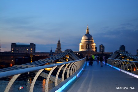 St Pauls view across Millennium Bridge
