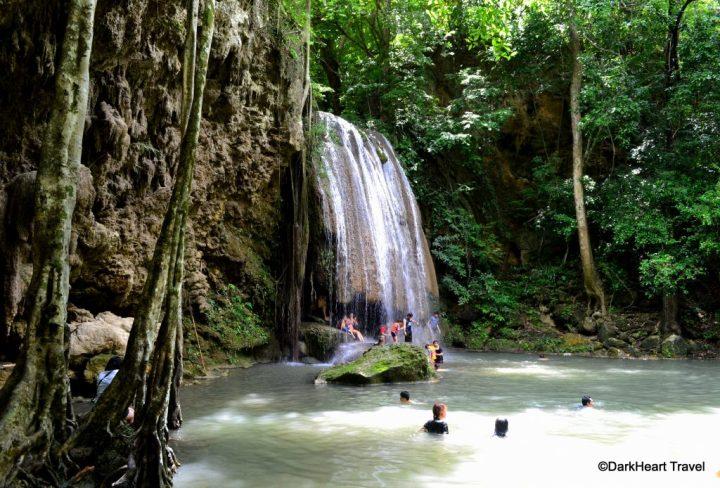 Waterfall at Erawan Falls