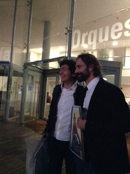 May 30, 2014 @ OSCyL Stage door, Alexander & Chor Director,Juan Pablo de Juan