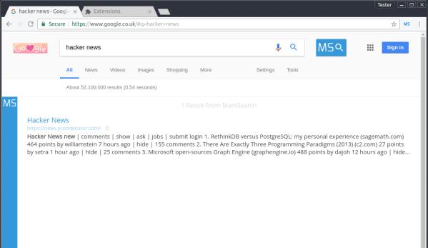 MarkSearch - A Desktop Bookmarking App