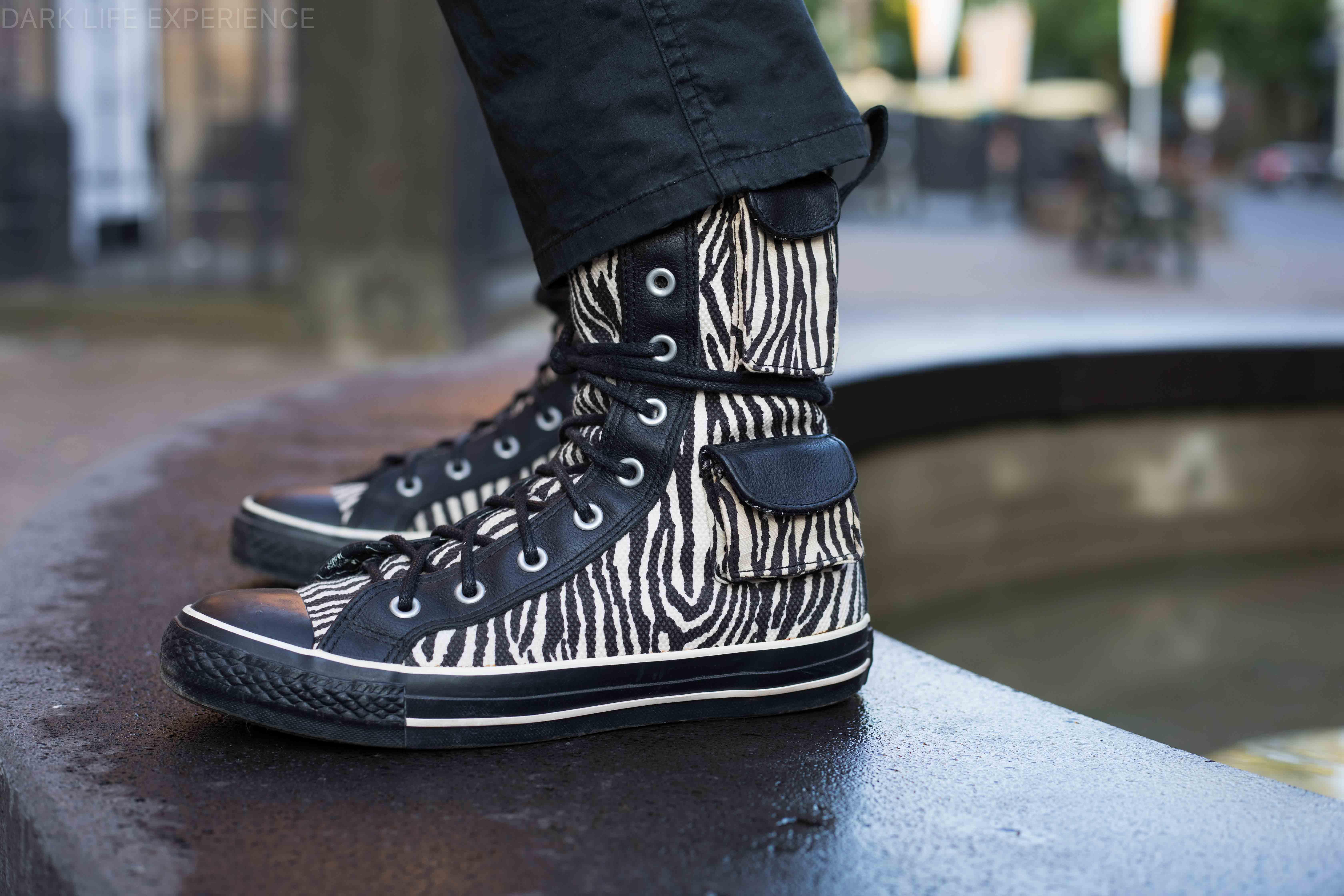 Converse All Star Combat Boots Zebra