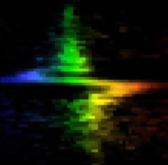 his colorful 'zigzag' is not the work of a flamboyant artist, but the signature of a supermassive black hole in the center of galaxy M84, discovered by Hubble Space Telescope's Space Telescope Imaging Spectrograph (STIS). 1997 Credit: Gary Bower, Richard Green (NOAO), the STIS Instrument Definition Team, and NASA/ESA