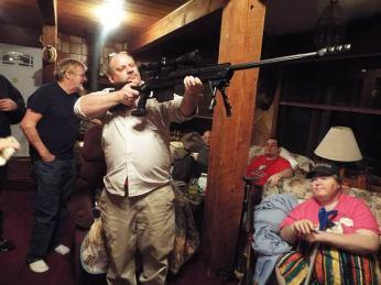 Evan with gun