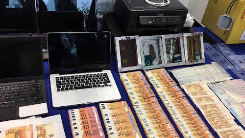 Fake Euro Notes Seized During the Operation