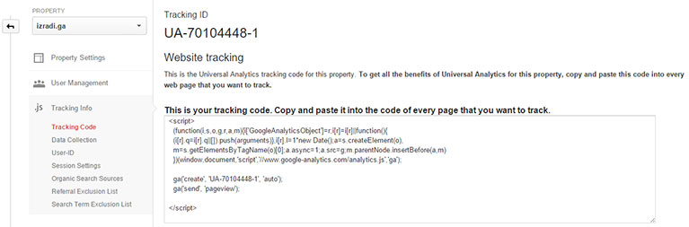 Treking kod analitike