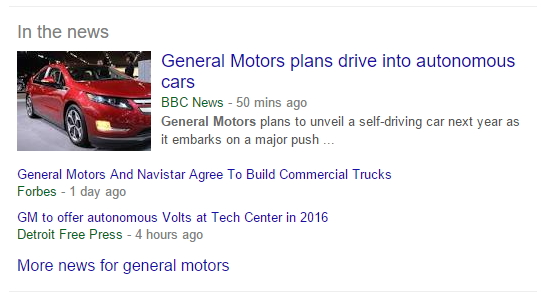 Google news feed za brandove