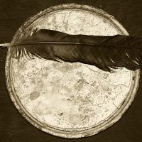 Antique Impressions; Crow Feather - Old Paint