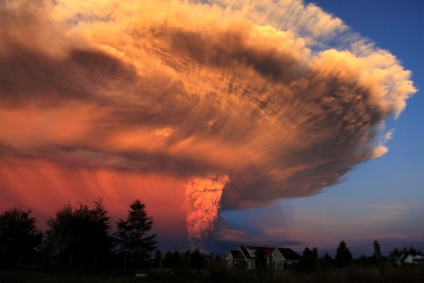 The Calbuco volcano erupts in Chile