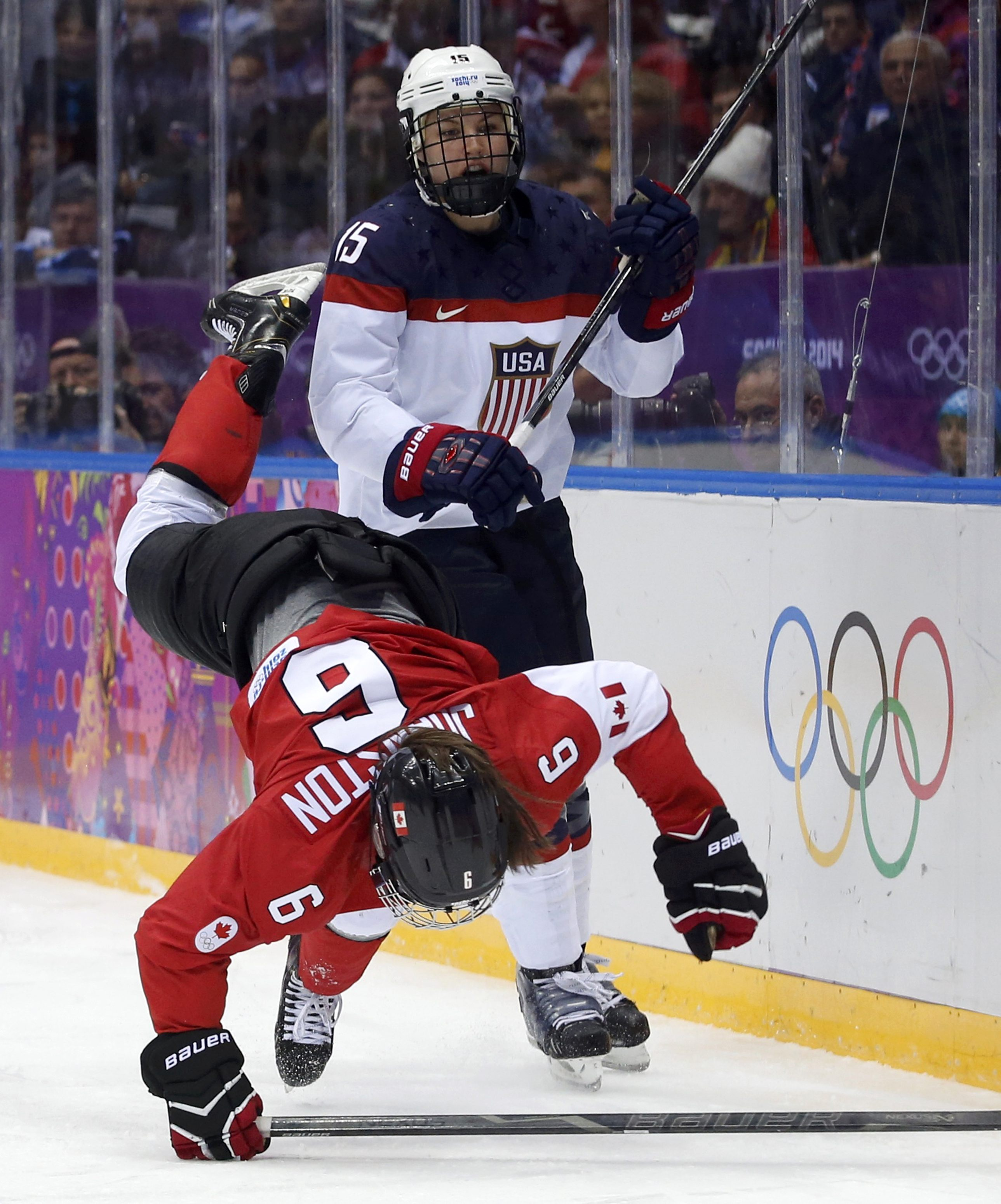 Sochi Olympics Day 15 Us Women S Hockey Falls To Canada In Overtime