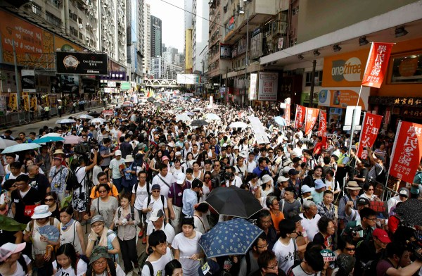 Protesters in Hong Kong, mourning Israeli teens, Wimbledon ...