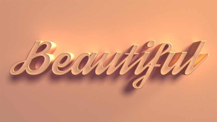3D Text Effect Example
