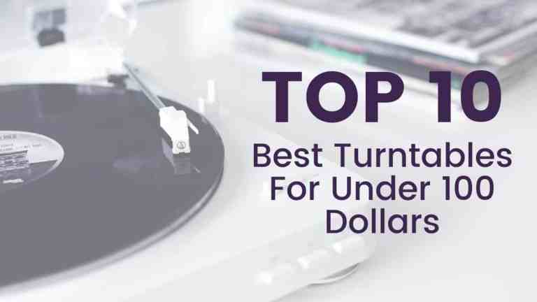 Top 10 Best Turntables for Under 100 Dollars Darkside Vinyl White Record Player Playing Record