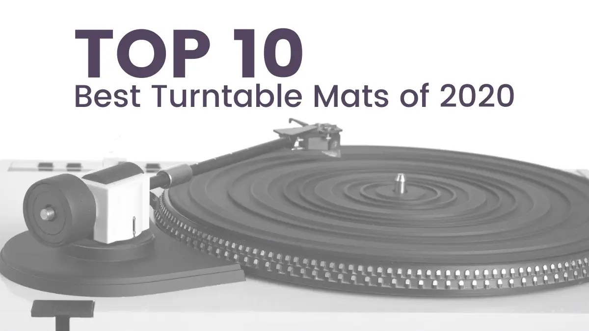 Top 10 Best Turntable Mats Darkside Vinyl Grey turntable mat on turntable with white needle
