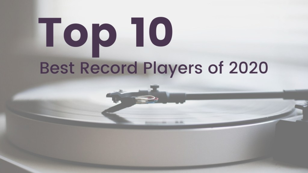 Top 10 Record Players of 2020 Record Player with Needle Grey and Purple