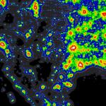 Light Pollution Map Darksitefinder Com