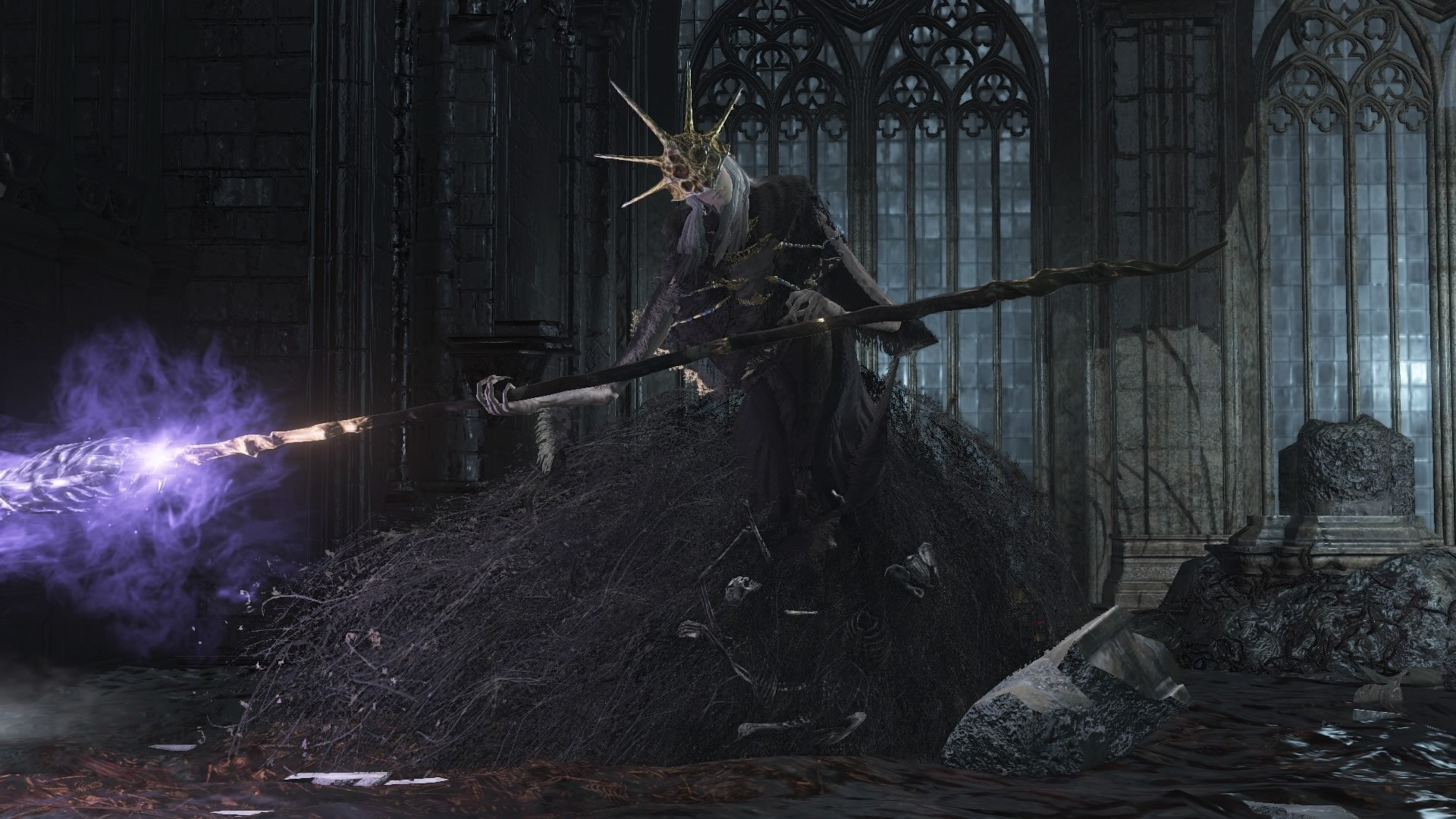 Aldrich, Devourer of Gods boss fight in Dark Souls III